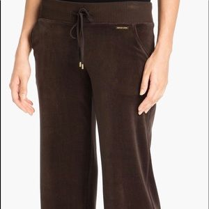 Michael Kors Velour Lounge Pants With Roomy Legs